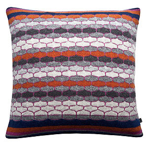 Bricks And Mortar Knitted Cushion - cushions