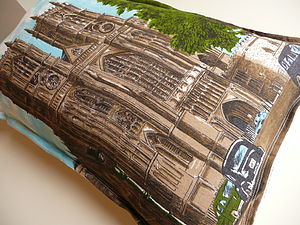 Vintage Westminster Abbey Cushion - soft furnishings & accessories