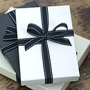 All our books arrive beautifully presented in an ivory or a black gift box