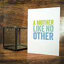 A Mother Like No Other Card
