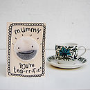 mummy tea card