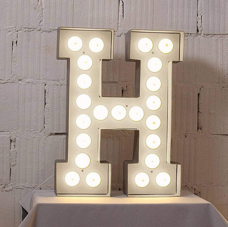 Large Metal Alphabet Letters Mesmerizing Alphabet Hollywood Lightletteroom  Notonthehighstreet Design Decoration