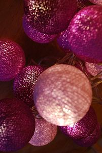 String Of Ball Lights - room decorations