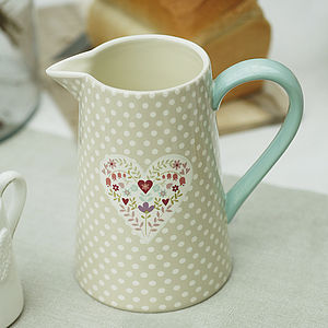 Polka Dot Heart Jug - kitchen