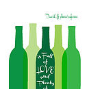Personalised Wine Bottles Print