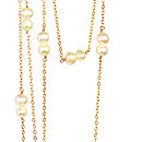Freshwater Pearl And 14k Gold Fill Maxi Necklace