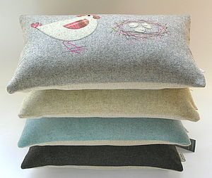 Hen And Eggs Tweed Cushion - cushions