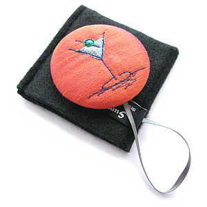 Cocktail Handbag Mirror Compact