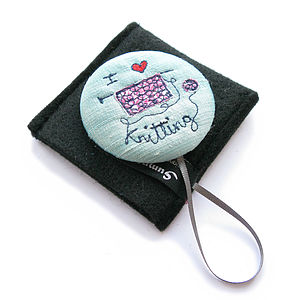'I Love Knitting' Handbag Mirror Compact - beauty accessories