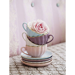 Belle Teacup And Saucer - crockery & chinaware