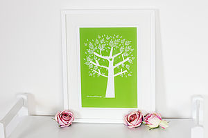 Personalised Family Tree Print - family inspired homeware