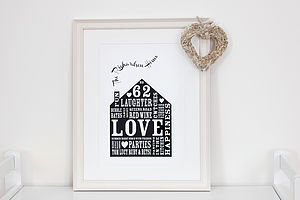 Personalised Our Home Print - birthday gifts for her