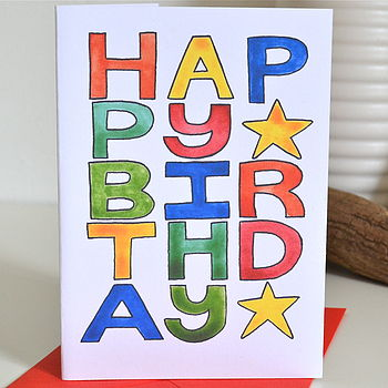 Colourful 'Happy Birthday' Card