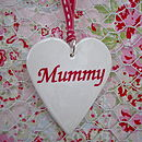 Porcelain 'Mummy' Heart Decoration