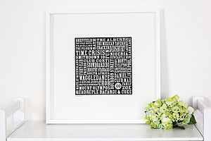 Personalised Text Print - posters & prints