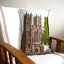 Vintage Westminster Abbey Cushion