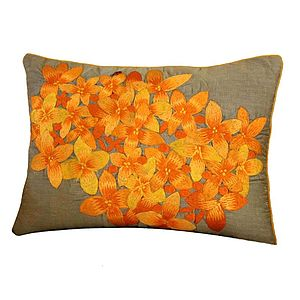 Floral Embroidered Cushion - cushions