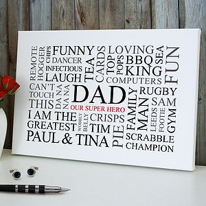 Dad's Favourites Word Art Print