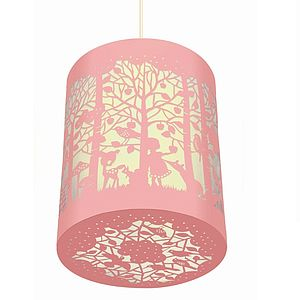 In The Forest Paper Cut Lantern - children's room