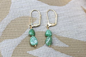 Green Tsavorite Bead Earrings - earrings