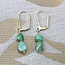 Small Green Tsavorite Earrings Inspire Rocks