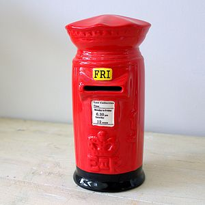 Red Postbox Moneybank - shop by price