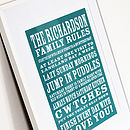 Personalised Rules Print