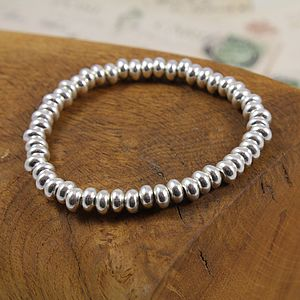 Silver Bead Friendship Bracelet - women's jewellery