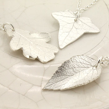 Personalised Leaf Pendant