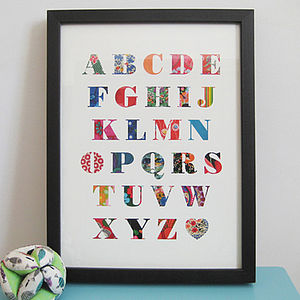 Patchwork Alphabet Print - children's room
