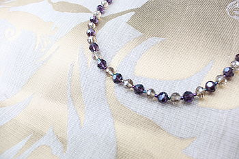 Crystal Bead Necklace By INSPIRE ROCKS