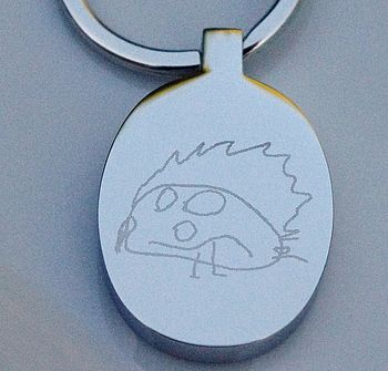 Personalised Engraved Drawing Key Ring
