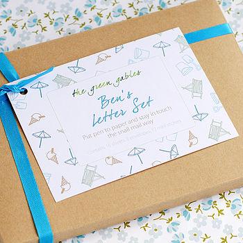Personalised Seaside Letter Writing Set