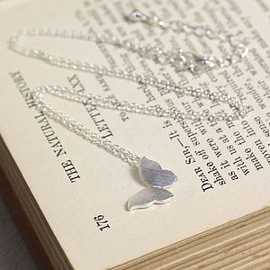 'Daydream Believer' Silver Butterfly Necklace - women's jewellery