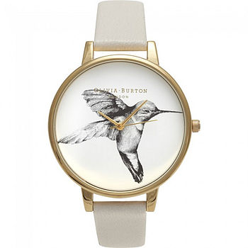 Gold Hummingbird Motif Watch