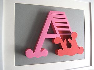 3D Handmade Card Initial - decorative accessories