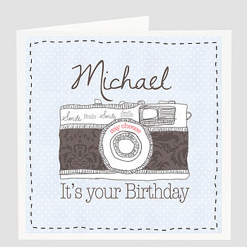 Personalised 'Say Cheese' Birthday Card