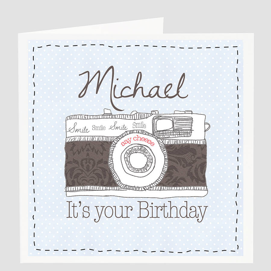 personalised 'say cheese' birthday card by violet pickles, Birthday card