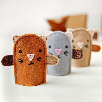 Make Your Own Kitten Finger Puppets Craft Kit
