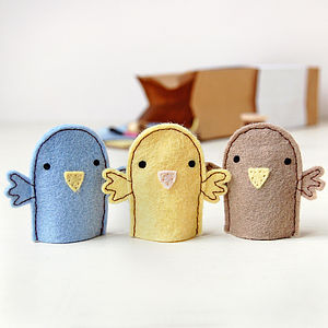 Make Your Own Bird Finger Puppets Craft Kit - sewing & knitting