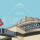 Clapham Common Station Print