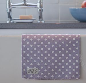 Lavender Polka Dot Tea Towel - kitchen accessories