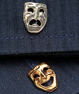Comi Tragedy Cufflinks In Gold And Silver