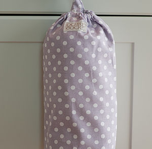 Polka Dot Carrier Bag Store - laundry room