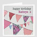 Personalised Birthday Bunting Card