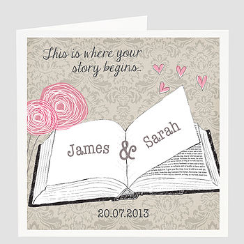 Personalised Wedding Story Card
