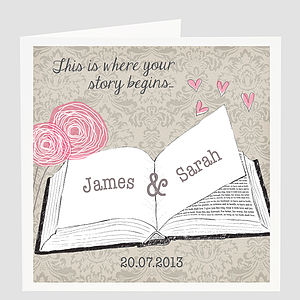 Personalised Wedding Story Card - engagement cards