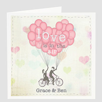 Personalised 'Love Is In The Air' Card