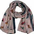 Pink Pretty Bird Scarf