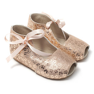 Girls Designer Peep Toe Shoes - clothing